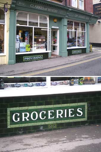 Ipswich Historic Lettering: Whitby provisions & groceries