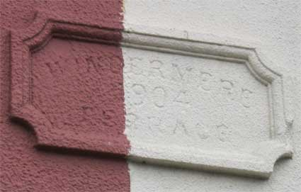 Ipswich Historic Lettering: Windermere Terrace 2
