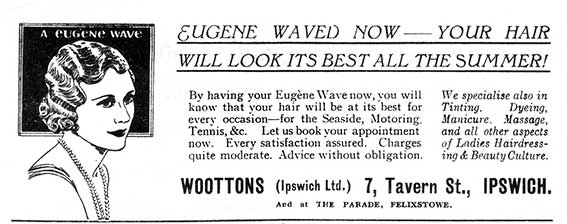 Ipswich Historic Lettering: Wootons advertisement 1934