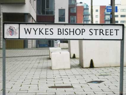 Ipswich Historic Lettering: Wykes Bishop Street