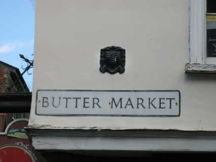 Ipswich Historic Lettering: Butter Market sign 1