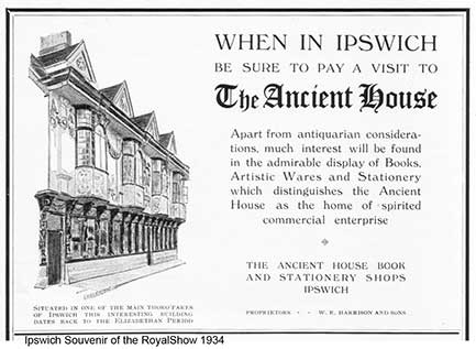 Ipswich Historic Lettering: Ancient House 1934